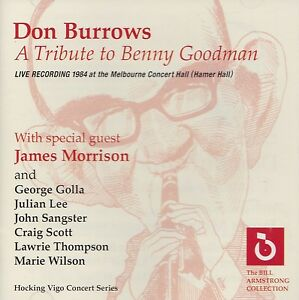 [NEW] 2CD: DON BURROWS: A TRIBUTE TO BENNY GOODMAN
