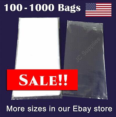 6x24 Plastic 2-mil Bags Multipurpose Open Top Poly Lay Flat Packaging Baggies