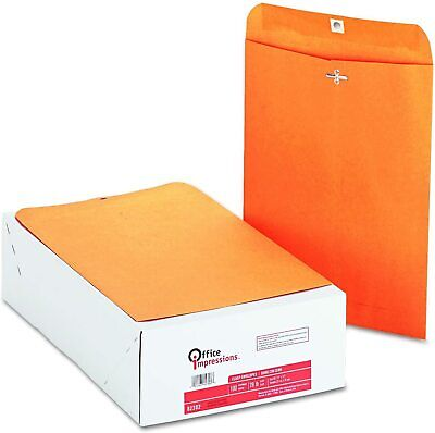 Office Impressions - Clasp Envelopes 9 X 12 Brown Kraft - 200 Count
