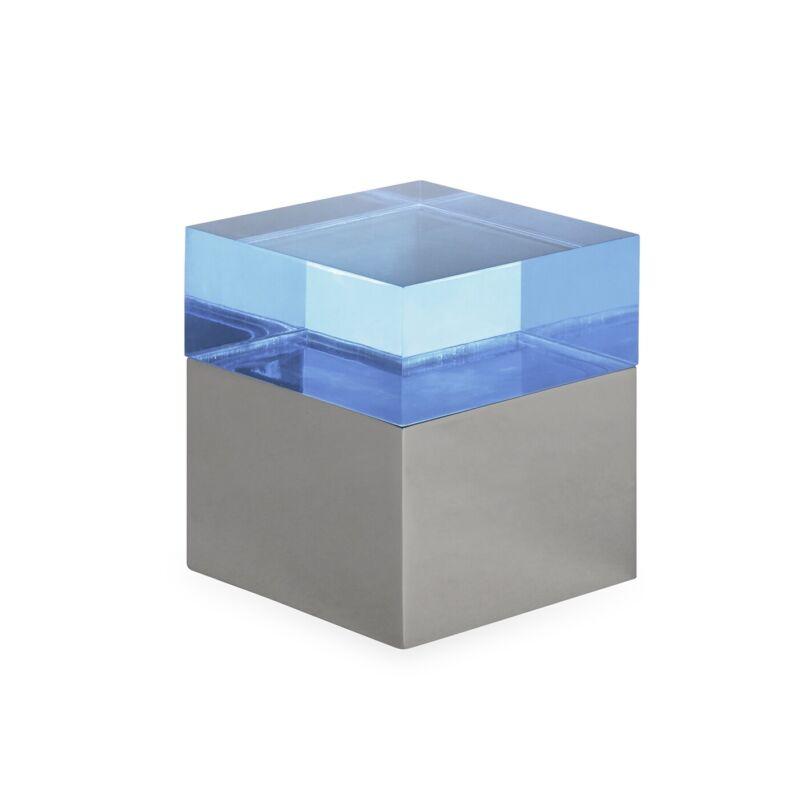 Jonathan Adler - Monaco Square Box - Small -Acrylic and Polished Steel