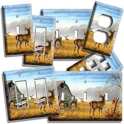 WHITETAIL DEER BUCK COUNTRY FARM BARN LIGHT SWITCH OUTLET WALL PLATES ROOM DECOR