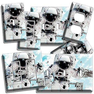 OPEN SPACE NASA ASTRONAUT SWITCH WALL PLATE OUTLET HOME ROOM GEEK NERD ART - Nerd Room Decor