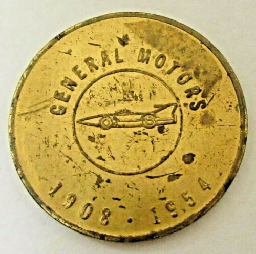 1954 GENERAL MOTORS 50 MILLION CARS coin medal token ^
