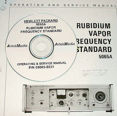 Hp 5065a Rubidium Standard Service Operating Manual