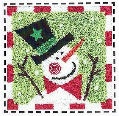 "Punchneedle Pattern by Artful Offerings  ""Peppermint Snowman"""