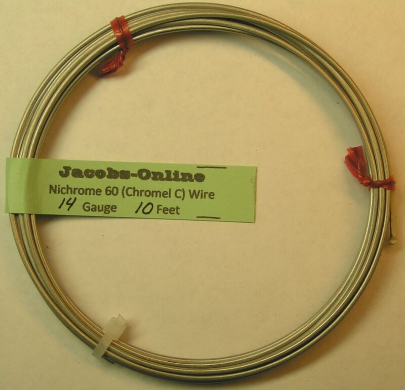 Nichrome 60 resistance wire, 14 AWG (gauge), 10 feet