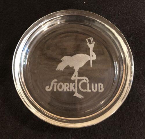 Vintage STORK CLUB GLASS ASHTRAY - Legendary New York NIGHTCLUB