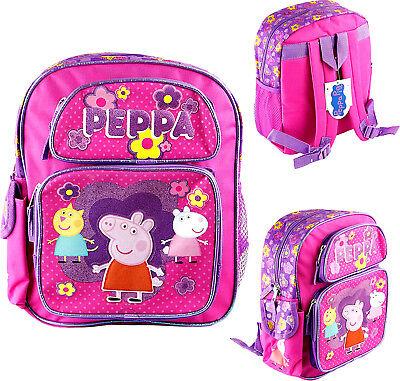 Peppa Pig Book Bag (Peppa Pig Toddler School Backpack 12
