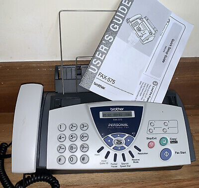 Brother Fax-575 Personal Plain Paper Fax Phone Copier Machine With Manual