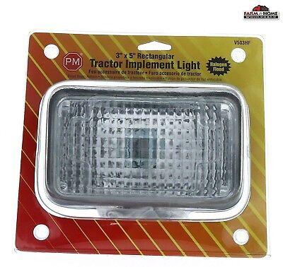 Tractor Implement Work Light 3 X 5 Rectangular New