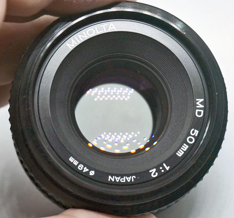 PRIME LENS For SLR Camera With Minolta MD Mount MINOLTA 2.0-50 VG PHL0026  - $30.00