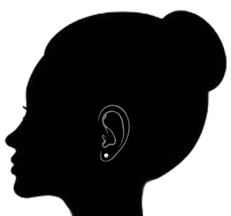 14K Solid Gold Fresh Water Cultured Pearl Stud Earrings 4mm