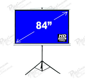 New-84-Portable-Tripod-Projection-Screen-home-cinema-Projector-Glass-Bead-4-3