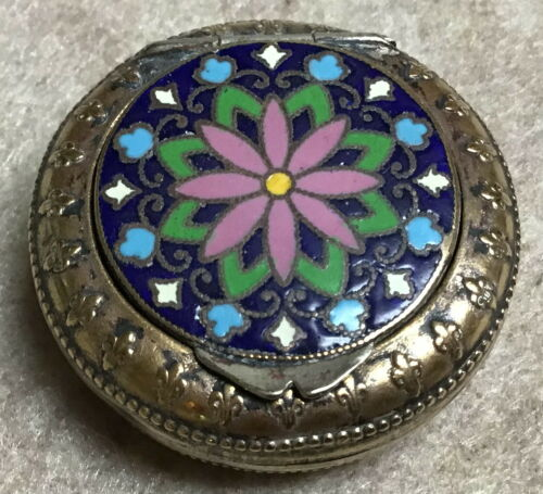 Antique French enamel pill box