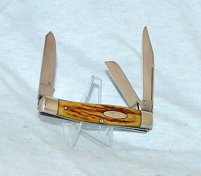 "RARE VINTAGE CASE XX STAG STOCKMAN KNIFE 5375 LP 1940-48 BOOK $1500 ""LONG PULL!"""