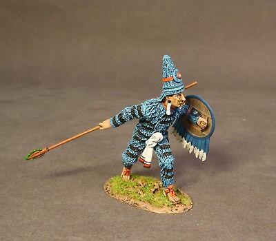 John Jenkins Aztecs   Conquistadors Az 15B Aztec Tlahuiztli Warrior Blue Mib