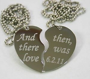 TEXT-ONLY-SPECIAL-WORDS-SPLIT-HEART-TAG-NECKLACES-FREE-ENGRAVING-STAINLESS-STEEL