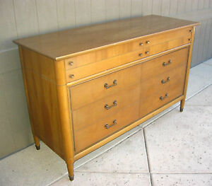 Vintage Solid Cherry Wood Danish Modern Style Dresser By