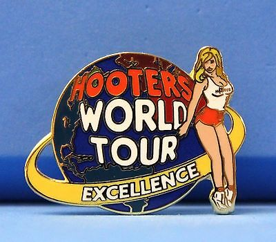 HOOTERS LAPEL PIN ONLY GIVEN TO FRANCHISE OWNERS WORLD TOUR EXCELLENCE