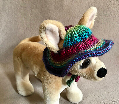 Pet Clothes Outfit Hand Knit Brim Hat for Small Dogs and Cats XXS XS S](Pet Outfits For Cats)