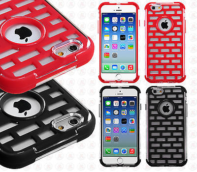 For Apple iPhone 6 4.7 Brick Hybrid Dual Layered Skin Case Phone Cover