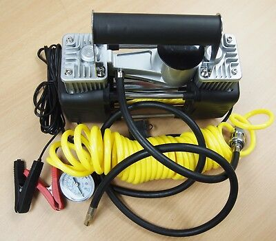 Portable 12V Dual Cylinder Air Compressor Pump 150psi Tire inflator Kit