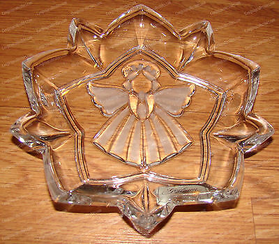 Etched Crystal Angel of Peace (Holiday Traditions by Gorham 6324818) Candy Dish ()