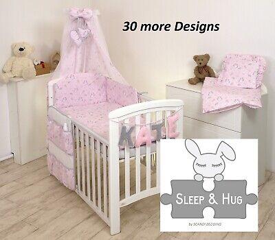 UNICORN ON PINK BABY BEDDING SET COT or COT BED size+ 30 MORE (Designer Baby Bedding Sets)