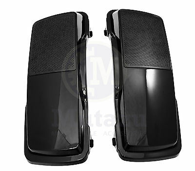 Mutazu 6 x 9 Speaker Lids Vivid Black for Harley Touring Saddlebags