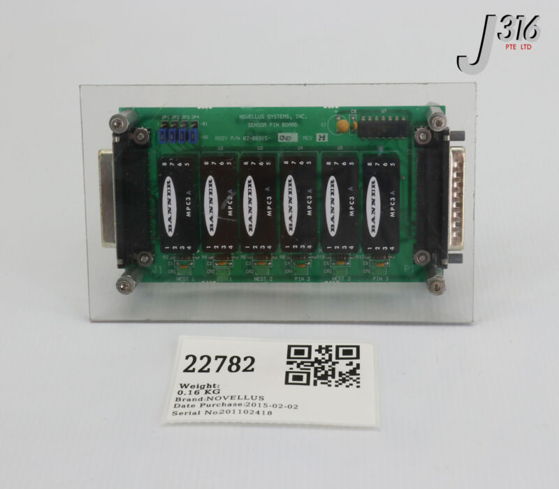 22782 Novellus Pcb, Sensor Pin Board, 27-00156-00 02-00315-00