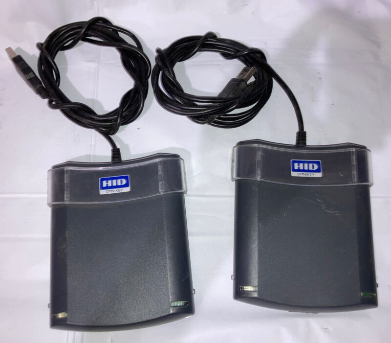 Lot of 2 HID Omnikey 5325 CL USB Proximity Card Readers USED