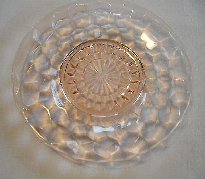 """Vintage Pink Depression Jeannette Glass Cubist 6"""" Plate ~"""