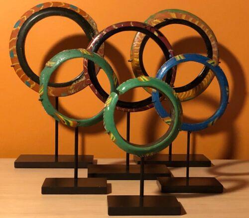 ANCIENT Roman Glass Bracelets on Custom Bronze Stands 6