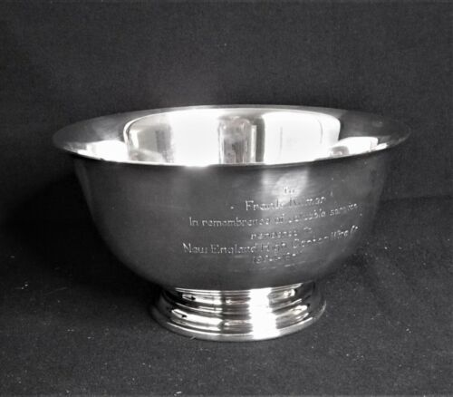 "Sterling Silver Revere Trophy Bowl #D260 -7.5/8"" International   568 g."