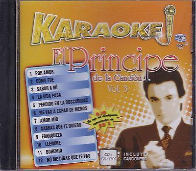 Jose Jose El Principe de la Cancion Vol 3 KARAOKE CD+Grafics Incluye Cancionero  segunda mano  Embacar hacia Argentina