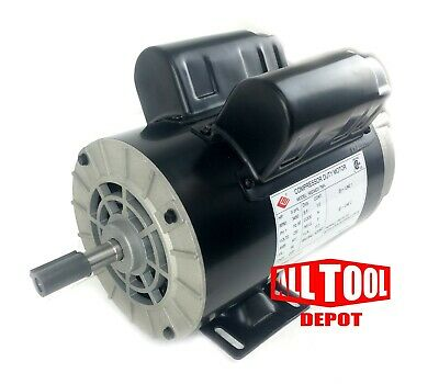 5 Hp Spl 3450 Rpm 56 Frame 230v 17.2amp 58 Shaft Single Phase Nema Motor