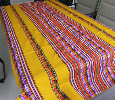 New From Puno Peru Andean Inca Cotton Table Cloth - Cover 80x47