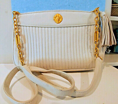 ANNE KLEIN CLASSIC GENUINE ZIPPERED LEATHER WOMENS PURSE SHOULDER HANDBAG LION