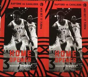Raptors VS Cleveland Cavaliers OCT 17, SECTION 306 ROW 9