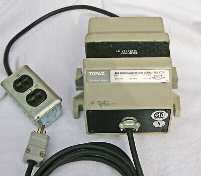 Topaz Ultra Line Nosie Isolator 91091-21 125 Va Wiredready To Use Vg Cond