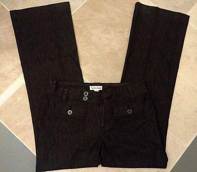 Calvin Klein 2 Lightweight Heathered Black Straight Leg Stretch Jeans 29