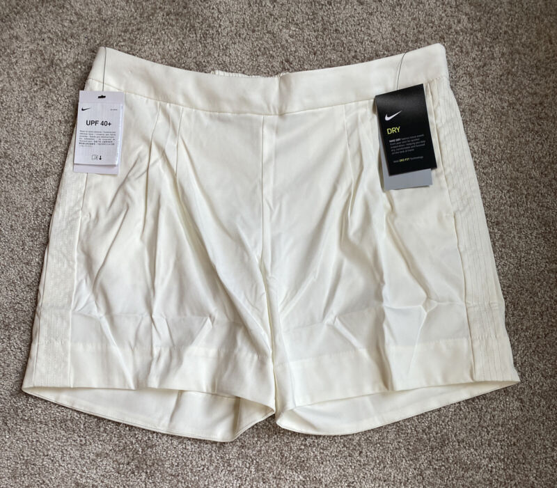 Womens Size Small Nike Golf Shorts White 6in inseam AJ5684-133