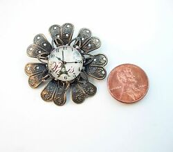Vintage Sunflower Style Decor Glass Dome Dollhouse Miniatures Wall Clock Reg$25