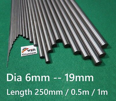 Titanium 6al-4v Dia 6mm - 19mm Round Bar Grade 5 Alloy Rod Ti Gr.5 Metal