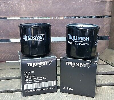GENUINE TRIUMPH STREET TRIPLE  R OIL FILTER WITH SUMP PLUG WASHER   T