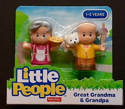 Fisher Price Little People Great Grandma and Grandpa New