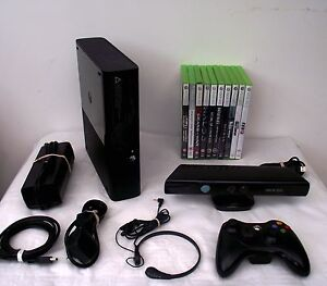Microsoft xbox 360 s with kinect 250 gb black console pal 11 top games 0885370236149 ebay - Xbox 360 console with kinect ...