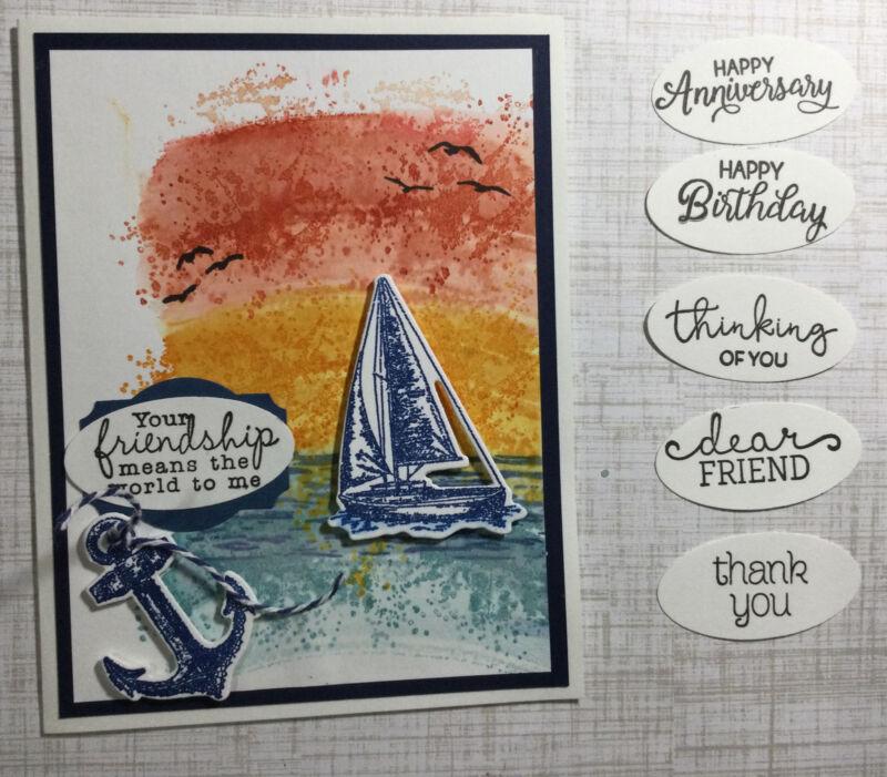 Stampin Up - Sunset & Sailboat Card Kit Of 4