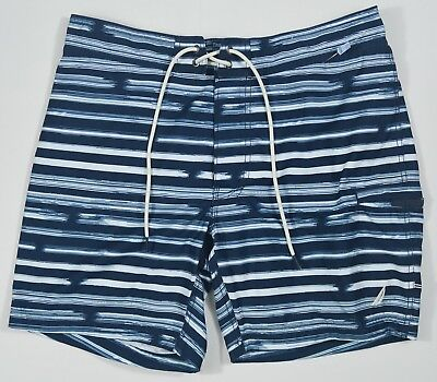 Nautica #5420 NEW Mens Lined Drawstring Half Elastic Waist Quick Dry Swim Trunks