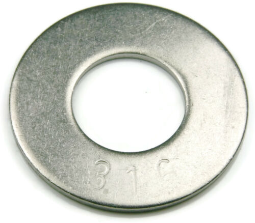 Marine Flat Washers 316 Stainless Steel Standard Flat Washers - Sizes #4 - 2""